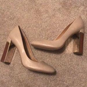 Calvin Klein block heel
